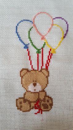 Cross Stitch Heart, Cross Stitch Cards, Cross Stitch Animals, Cross Stitching, Cross Stitch Embroidery, Cross Stitch Designs, Cross Stitch Patterns, Loom Patterns, Baby Boy Knitting Patterns
