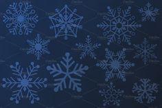 Snowflake Vectors by Saunter Studios on Creative Market