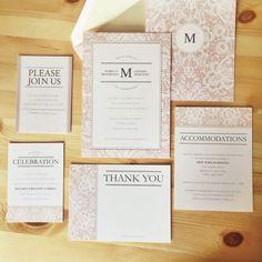 Lace & Pearls Invitation - David's Bridal #weddinginvitations