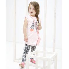 Roze gemêleerde jurk (model Lindale) van Tumble 'n Dry | Olliewood Online Kinderkleding en Babykleding