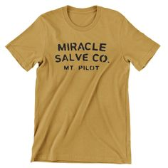Miracle Salve Co. T Shirt Andy Griffith Hand screen-printed Men's / Ladies / Fitted Mt Pilot / Mayberry / Barney Fife / by cottonpickincrazy on Etsy Willie Nelson T Shirts, Barney Fife, Young T, Cut Tees, Gifts For My Boyfriend, Mens Tees, Cool T Shirts, Funny Tshirts