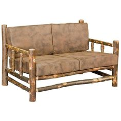 Amish Rustic Hickory Lodge Loveseat (4,195 ILS) ❤ liked on Polyvore featuring home, furniture, sofas, eco friendly sofa, blue furniture, outdoor sofa, hickory furniture and eco friendly furniture