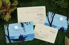 Dog Or Cat Save The Date Postcard Destination Card Lake Wedding Canoe Rustic Invitation