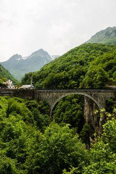 A bridge built by Napoleon near Luz-Saint-Sauveur, Pyrenees, France