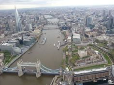 City of London, the Thames and London looking west #London.  This is a great view of London.  I love having the bridge in the foreground.