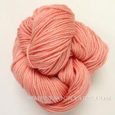 Simply Socks Yarn Company - SSY Solid 315 Peach, $11.00 (http://www.simplysockyarn.com/ssy-solid-315-peach/)