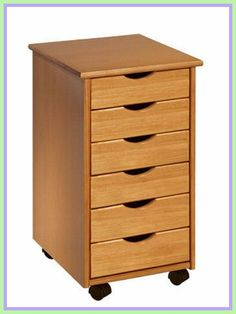 Rolling Office Cart 6 Drawers Crafts Solid Wood Sewing Organizer Desk Storage for sale online Wooden Drawers, Small Drawers, Desk With Drawers, Cabinet Drawers, Filing Cabinet, Small Storage, Craft Storage, Storage Drawers, Storage Ideas