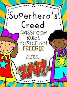 Are you excited for a classroom full of new superheroes? I am super excited to post these adorable posters for this coming school year! If you are creating a superhero classroom, this will be a great addition to your classroom decor! Superhero Classroom Rules, Superhero Classroom Decorations, Create A Superhero, Classroom Rules Poster, Superhero Room, Classroom Themes, Classroom Labels, School Decorations, Preschool Classroom