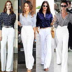 Fashion Fashion pants White jeans outfit Fashion outfits Summer business casual outfits Pants - Calça de alfaiataria peça clássica e atemporal - Summer Business Casual Outfits, Casual Work Outfits, Professional Outfits, Mode Outfits, Classy Outfits, Business Casual Womens Fashion, Vest Outfits For Women, Clothes For Women, Fashion Pants