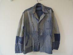 Vintage 1950 French Men's Blue Work Jacket by BonjourLaFRANCE, $247.00