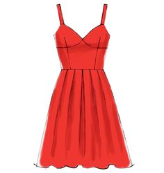 M6833, Misses' Dresses pattern, fitted bodice, two skirts