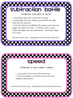 "Can""t wait to print out these math games!"