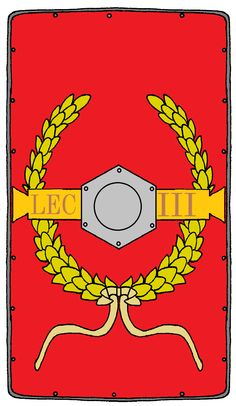 Roman Legionary Shield Legion 3 Cyrenaica