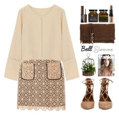 """""""#172"""" by opipolla ❤ liked on Polyvore featuring Dorothy Perkins, Dsquared2, Aquazzura, Sephora Collection, Bobbi Brown Cosmetics, AMBRE, blouse, sleeve and bellsleeve"""
