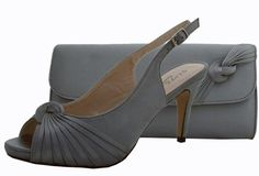 Annabel Pewter Evening Shoes