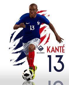 #Kante #Chelsea #France #Football  Watch Football Goals and Highlights on  Highlights-football.com Watch Football, Football Art, Nike Football, N Golo Kante, Raquel Welch, Chelsea Fc, God Of War, Fifa World Cup, Soccer