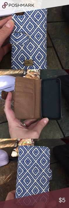 IPhone wallet For IPhone 5S (may fit others, not sure) brown leather inside with card slots. Like new. O'Neill Accessories Phone Cases