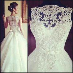 wedding dress yes please white lace