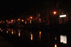 Amsterdam At Night - Canal Reflections - #amsterdam #night #cool