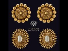 Indian Gold Jewelry Near Me Gold Earrings Designs, Gold Jewellery Design, India Jewelry, Temple Jewellery, Jewellery Rings, Latest Jewellery, Fashion Jewellery, Antique Earrings, Antique Jewelry