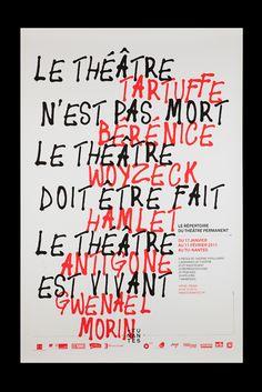 Akatre, Affiche pour le Théâtre Permanent au Tu Nantes, 2011