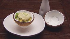 Passionfruit Sphere and Coconut Granita with Pineapple