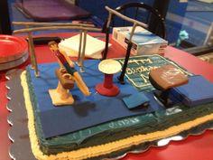 Boys Gymnastics Birthday Cake