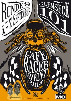 Glemseck 101 - 2014 - Surfazz Motorcycles - Poster Cafe Racer Sprint