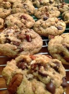 Who does not love cookies?! My favorite, obviously, is chocolate chip pecan cookies!  I am very specific as to how I want my cookies: more doughy than crispy, always with pecans, bite size and not too much chocolate chips!  The one batch I made before this one turned out too crispy and …