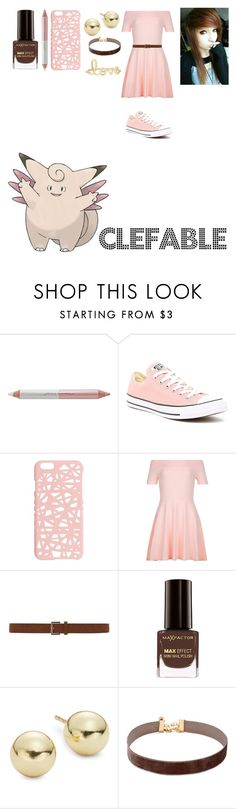 """""""Pokemon: Female Clefable"""" by mysterious-emo-girl ❤ liked on Polyvore featuring Jane Iredale, Converse, Miss Selfridge, New Look, Dorothy Perkins, Max Factor, Lord & Taylor, Vanessa Mooney and Sydney Evan"""