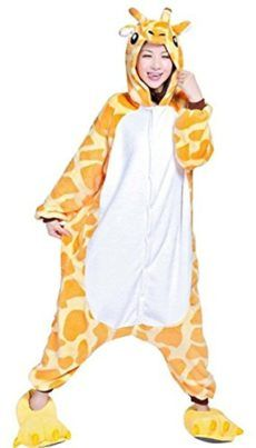 WOWCOS Adult Unisex Animal Kigurumi Cosplay Costume Pajamas Onesies Giraffe  Giraffe Costumes are one of the be872d963