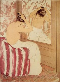 Mary  Cassatt - the-coiffure-study                                                                                                                                                     Plus