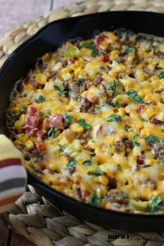 Easy to make, this Baked Corn & Sausage Dip by @jarendubois is hearty snack to be enjoyed by all!