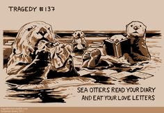 sea otters read your diary and eat your love letters (it could be worse)