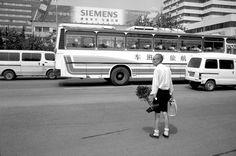 Man with bonsai tree tries to hail a taxi. Stuart Franklin, Time Magazine, Magnum Photos, Former President, Taxi, Beijing, Bonsai, Tank Man, Feels
