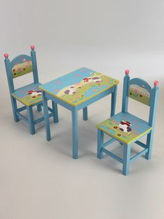Gilt kids table set