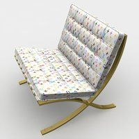 Barcelona Chair Louis Vuitton by Lunpi