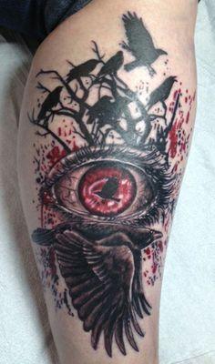 ;) my murder of crows... by Kurt Silver #crowtattoo #tattoo #trashpolka