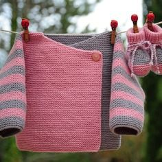 Layette ensemble mérinos 3 mois neuf tricoté main brassière et chaussons
