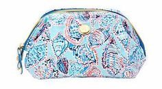 Lilly Pulitzer Waterside Cosmetic Case shown Multi Shell Me About It Accessories Small.