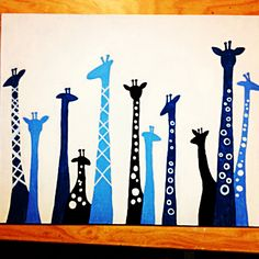 I think I might be able to do this. Giraffe Painting, Giraffe Art, Diy Painting, Diy Canvas, Canvas Art, Painting Canvas, Diy Artwork, Art Party, Animal Paintings