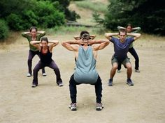 Squats work the major muscles of your lower body and your core.