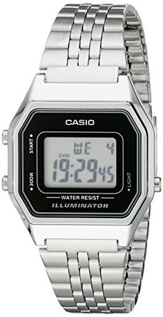 Buy Casio Ladies Mid-Size Silver Tone Digital Retro Watch LA-680WA-1DF - Topvintagestyle.com ✓ FREE DELIVERY possible on eligible purchases