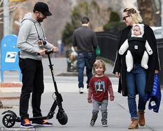 Family time! On Sunday, Olivia Wilde, 32, and fiance Jason Sudeikis, 41, took son Otis, tw...