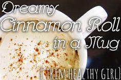Trim Healthy Mama Cinnamon Roll in a Mug // THM Recipe