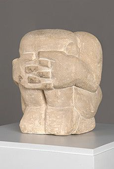 Andre Derain - Crouching Man, 1907. Andre Derain's crouching man sculpture was sculpted in 1906 and remains one of Derains and the cubist movements most famous sculptures. Better known for his paintings, this cubist sculpture is thought to be a major influence on the works of Brancusi who's most famous sculpture the Kiss followed later that year.