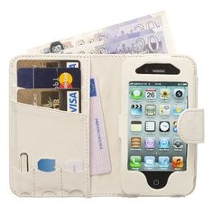 Manhattan Leather Wallet Case for iPhone 4G-Snow White by Fonerize. $50  http://www.amazon.com/dp/B004BRYS5Q/ref=cm_sw_r_pi_dp_JaUNpb1Y3FG0R