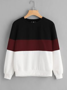 Cut And Sew Pullover -SheIn(Sheinside)