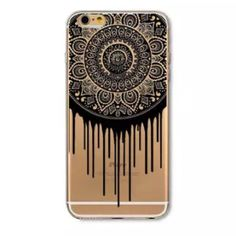 """PM PICK  iPhone 6/6s Case New 4.7"""" iPhone 6/6s 'Dripping Mandala' clear soft silicone case.  Comes with one basic screen protector. Accessories Phone Cases"""