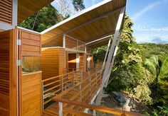 Architect Benjamin Garcia Saxe has designed a holiday house that overlooks the jungle in Costa Rica